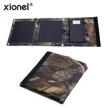 Xionel 5W High Efficiency Solar Power Panel Charger with 2A 5000Ma Power Bank Portable Solar Charger Bag for iPhones, Android