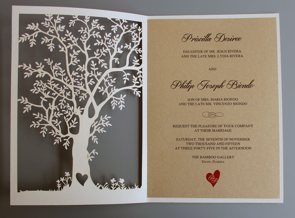 Laser Cut Tree Wedding Invitation, Fall Wedding Invitation Cards, Tree  Wedding Invite, Rustic Wedding Invitations Set Of 50 In Cards U0026 Invitations  From Home ... Photo