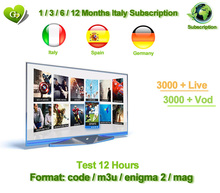 Ucer IPTV subscription 1/3/6/12 Months for Android TV Box smart tv mag for Italy Belgium Germany UK EX-YU Spain IPTV 3000 live