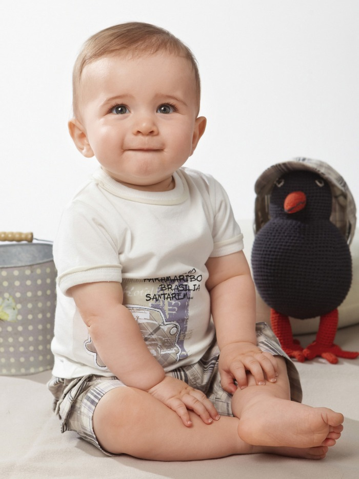 cute baby boy suit/white short sleeves shirt + short pants