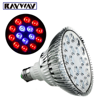 54W E27 14Red 4Blue LED Grow Light For Flowers Plant And Hydroponic System High Brightness