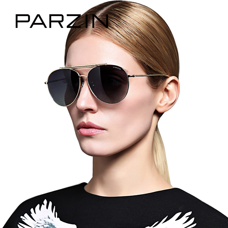 PARZIN Brand Unisex Classic Alloy Frame Polarized Sunglasses For Men Driving Anti UV400 font b Eyewear