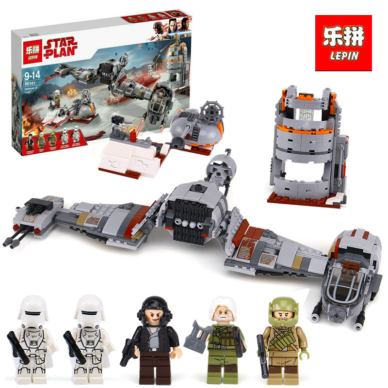 Lepin 05141 836Pcs Star Plan Series The Defense Of Crait Set 75202 Building Blocks Bricks Educational legoINGlys children Gift new lepin 16009 1151pcs queen anne s revenge pirates of the caribbean building blocks set compatible legoed with 4195 children
