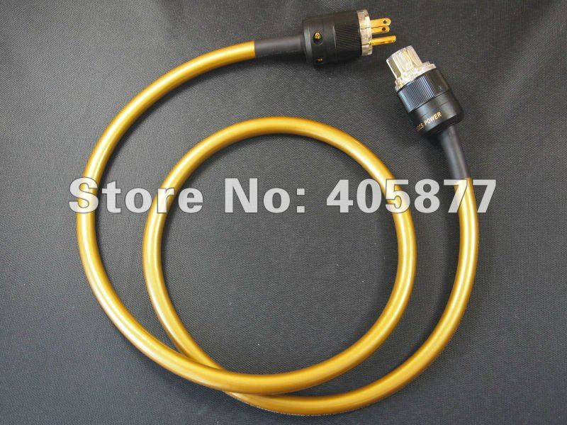 viborg audio power cable with DIY Pailiccs gold plated US plugs 1.5m for tube amplifier free shipping krell us version gold plated power plugs ac audio plugs connection power cable