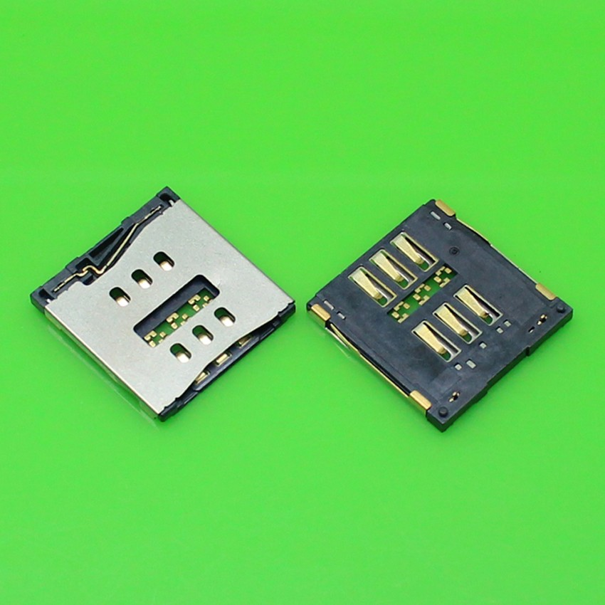 10pcs/lot 100% New For iPhone 5 5G SIM Card reader Tray Slot Holder