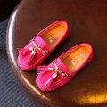 Chicas sola shoes niños shoes 2017 nueva primavera de la moda borla plana girls sneakers niños suave casual shoes tamaño 26-30