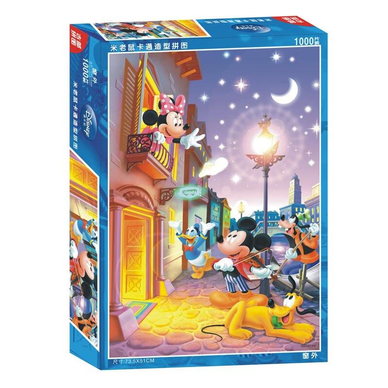 Disney dessin animé Animation Puzzles 2018 nouveaux enfants cadeaux Mickey 1000 pièces d'enfants Puzzles dessin animé jouet cadeaux