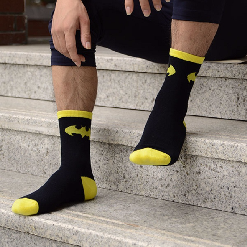 2019 New Superhero Movie Superman Batman Cotton Socks Cartoon American Captain Socks Unisex Cosplay Boy Girl Gift Let Our Commodities Go To The World Underwear & Sleepwears
