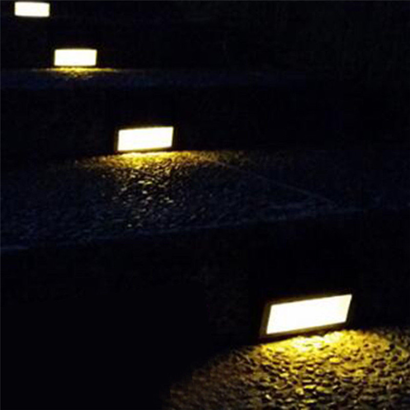 Led Lamps 4pcs Stainless Steel Waterproof Led Solar Round Buried Lights Outdoor Ground Square Buried Lights Outdoor Lighting Led Underground Lamps