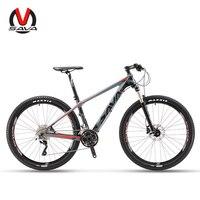SAVA 30 Speed 27.5 Men & Women Mountain Bike Carbon Fiber MTB Bicycle Shimano M6000 Bicicleta Disc Brakes Cycling Bike XCM fork