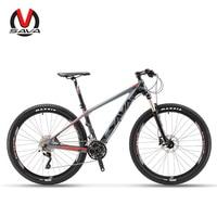 SAVA Mountain Bike Mountain bicycles 27.5 Mountainbike Carbon Bike with SHIMANO DEORE 30 Speeds Bike hydraulic fork Bicycle