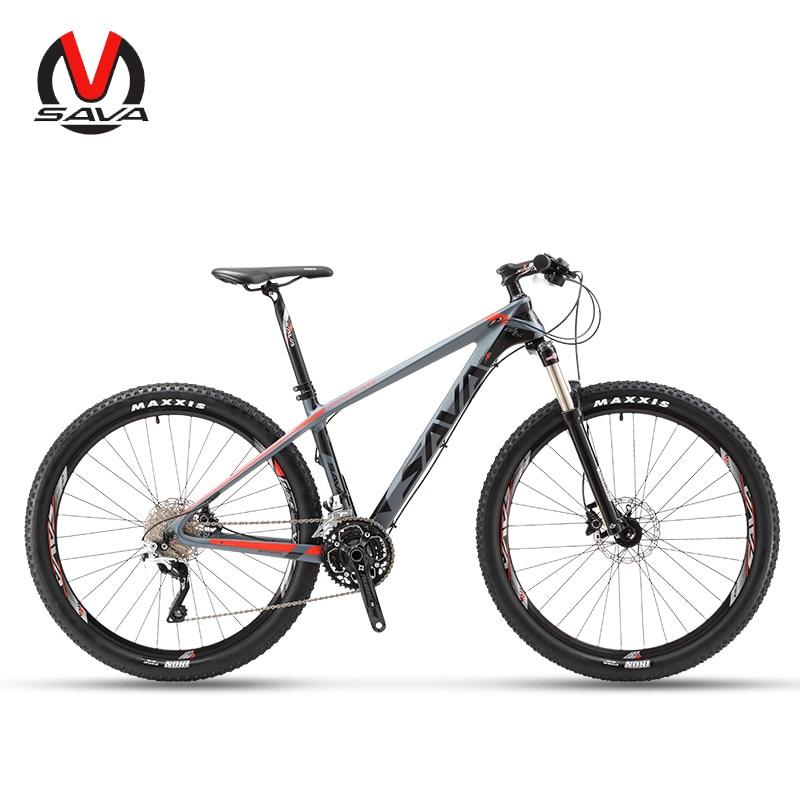 SAVA VTT vélos De Montagne 27.5 Vtt Carbone Vélo avec SHIMANO DEORE 30 Vitesses Vélo hydraulique fourche Vélo