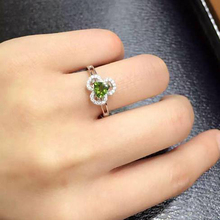 2017 Qi Xuan_Fashion Jewelry_Trendy Green Tourmaline Elegant Woman Rings_Solid Sliver Fashion Rings_Manufacturer Directly Sales