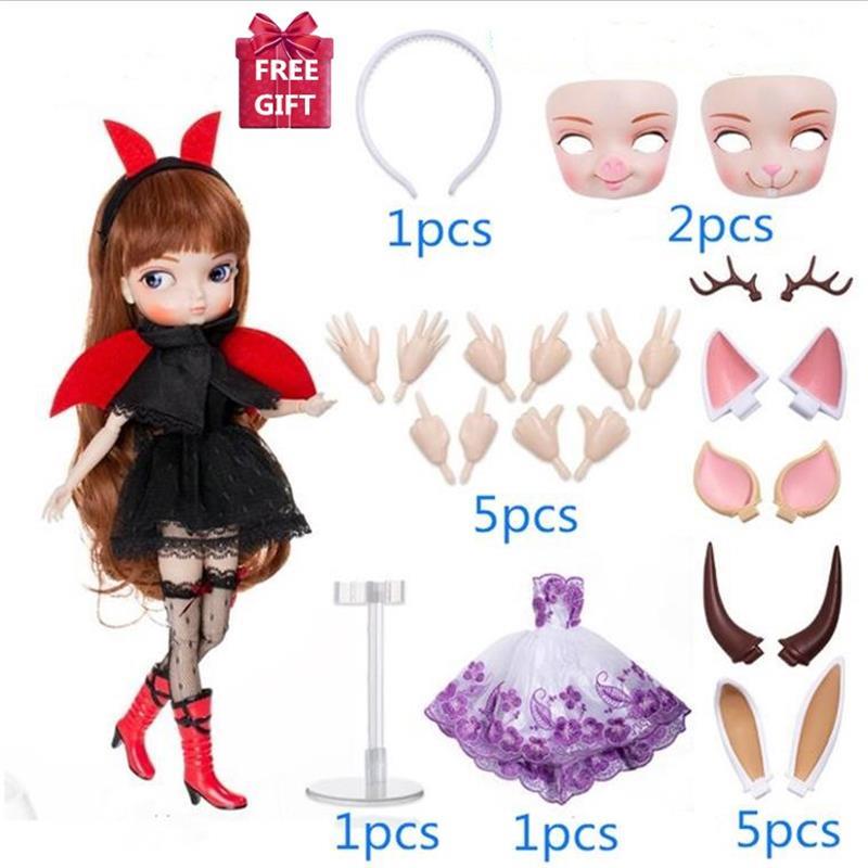 35cm 14 articulations mobiles poupée de mode avec belle robe poupée de mode 1/6 BJD poupées peuvent changer de maquillage et robe bricolage