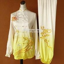 Customize Taichi uniform kungfu clothing Martial arts suit taiji sword outfit embroidery for men women boy girl kids children