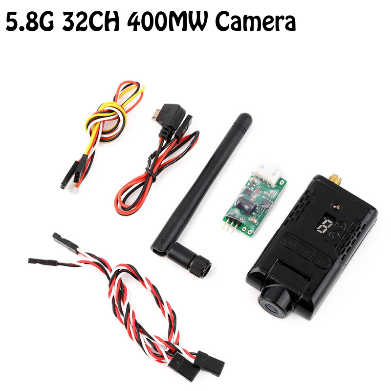 Оптовая 1 комплект OCDAY 400МВТ 5.8 г 32ch 32 канала высокой четкости 1080p беспроводной передатчик fpv камеры DVR