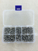 120pcs M4 6 8 10 12 16 20 Stainless Steel Hex Socket Head Cap Screw M4