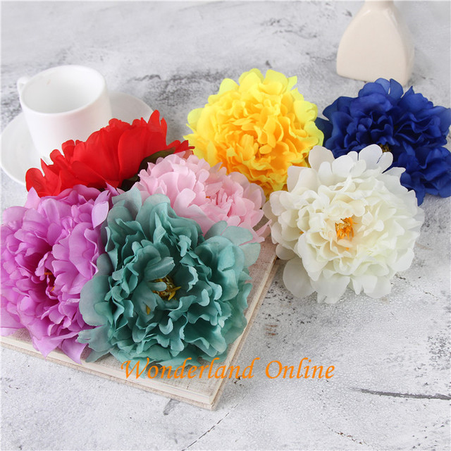 Wholesale artificial flowers silk peony flower heads simulation fake wholesale artificial flowers silk peony flower heads simulation fake flower head for wedding party home decoration mightylinksfo