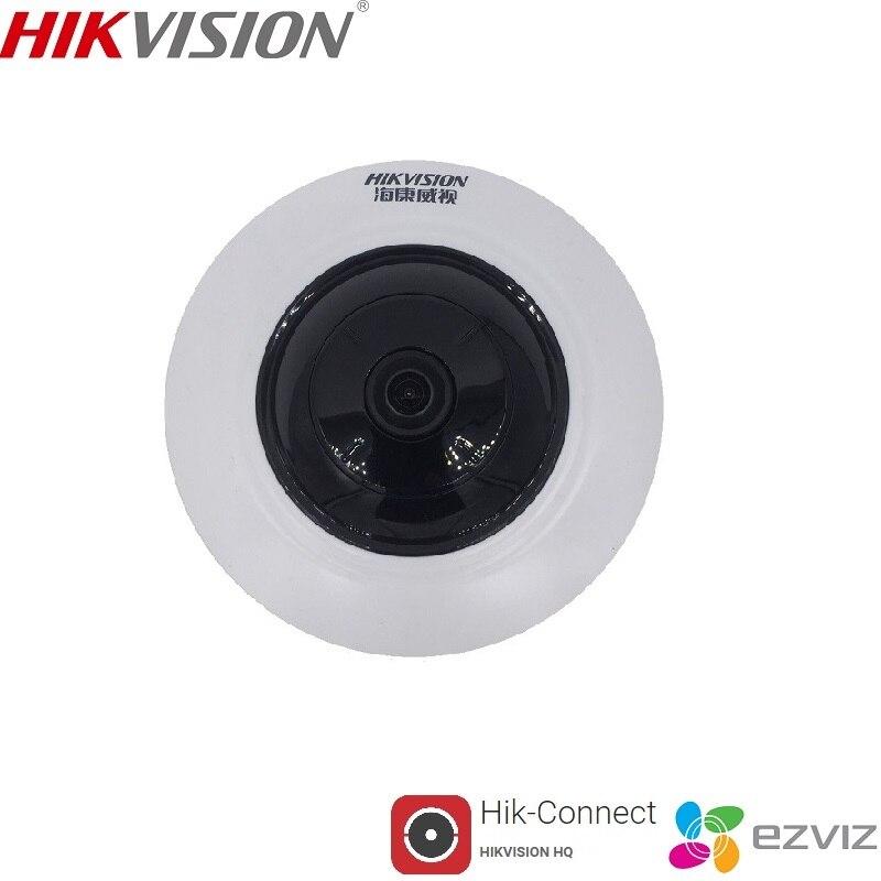 HIKVISION DS 2CD3955FWD IWS 5MP Fisheye Камера 360 View IP Камера Поддержка Wi Fi SD карты PoE ИК EZVIZ Hik подключения P2P App
