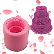 3d форма торта силиконовая для мыла Сделай сам свечей украшения