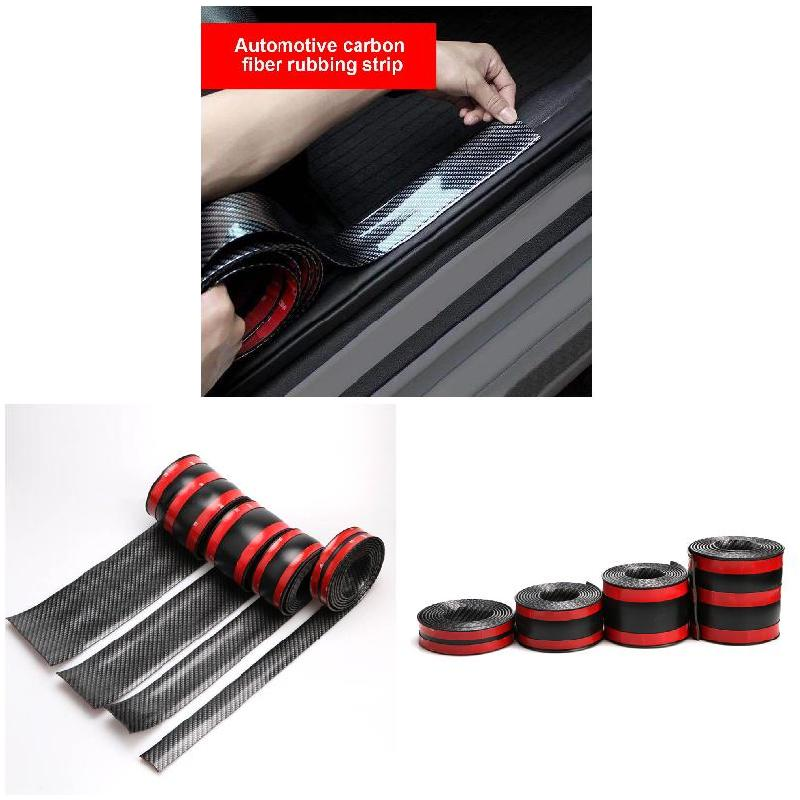 New Car Auto 1M Surface Protector Strip Carbon Fiber Bumper Edge Anti-collision Anti-Rub CSL2018