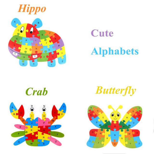 Online Shop 1 Pack Funny Wooden Animals Children ABC Learning