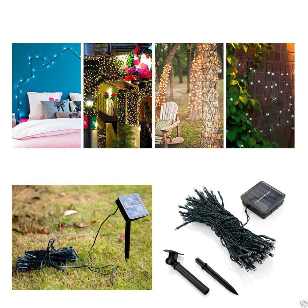 50 100 200 LED Solar Fairy Light String Light Outdoor Christmas Party Christmas Outdoor Lighting Decoration