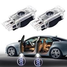 цена на 2-20Pcs For Mercedes Benz Logo Car Door Courtesy Lamp Logo Laser Projector Welcome Warning Light For W203 C Class SLK CLK SLR