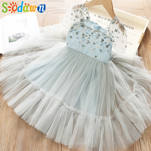Sodawn Summer Girl Dresses Princess Flower Dress 2019 Sweet Casual Kids Clothes For Girls Fashion Chidren Clothing(China)