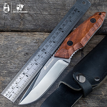 Tactical Knife outdoor recreation hunting knives survival knife fixed rescue tool 7Cr17Mov steel pocket knife karambit free ship