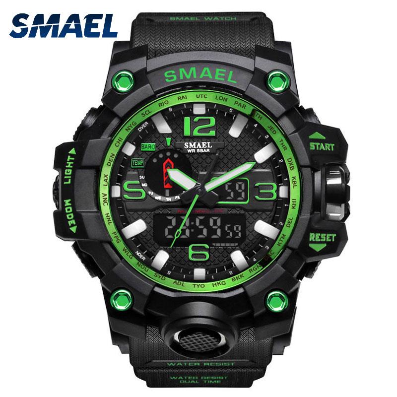 c4cfdc56e05 Homens Do Esporte da forma Relógio S Choque Relógios Digitais LEVOU relógio  de Pulso Digital-relógio Grande Relógio Militar de Quartzo montre homme  1545 ...