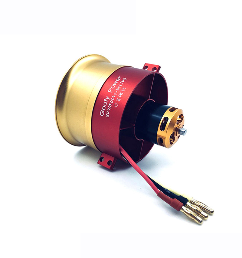 High Quality GP70mm EDF Full Metal Ducts 12 Paddle Ducted Fan 4S-6S Lipo Charger 2150KV Motor Electric for RC Jet Airplanes