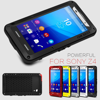 Original Love Mei For Sony Z3 Dual Aluminum Cover Case For Sony Xperia Z4 Dirt Shockproof
