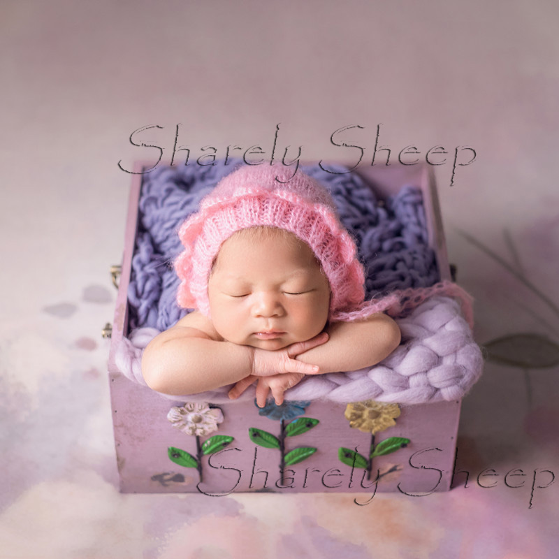 Newborn Baby Photography Props Infant Baby Photo Shoot Studio Printing Flower Wood Basket bebe fotografia AccessoriesNewborn Baby Photography Props Infant Baby Photo Shoot Studio Printing Flower Wood Basket bebe fotografia Accessories