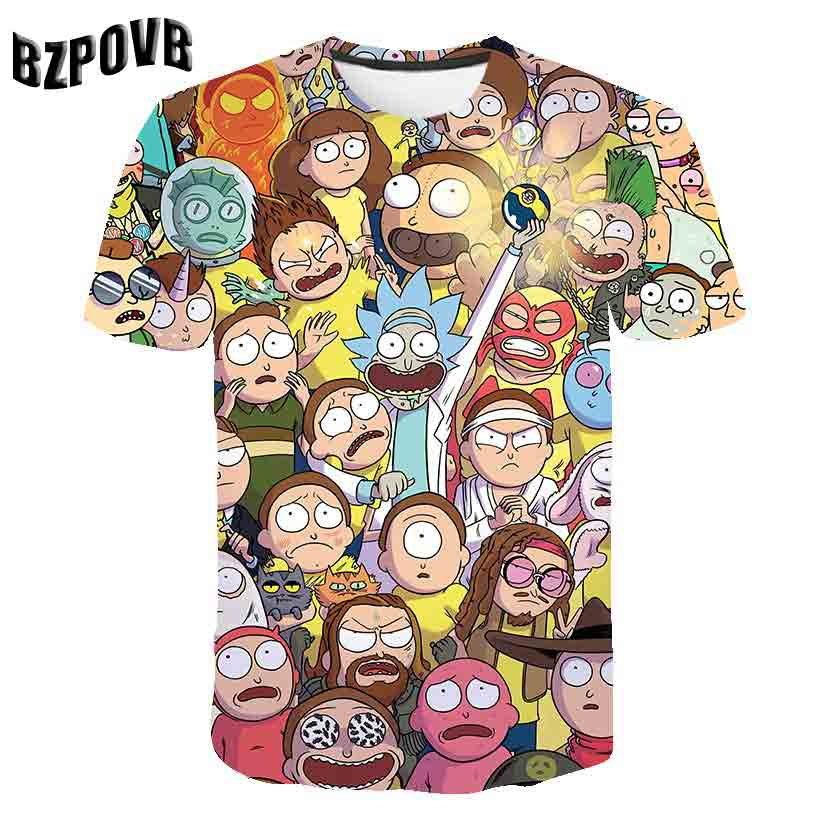 2019 New Galaxy&Rick and Morty 3D Print   t     shirt   Men Women tshirts Summer Anime Short Sleeve O-neck Tops&Tee Purple Drop Ship