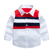 Children Girl Top Blouse England Long Sleeve Boys White Shirts Casual Turn-down Collar