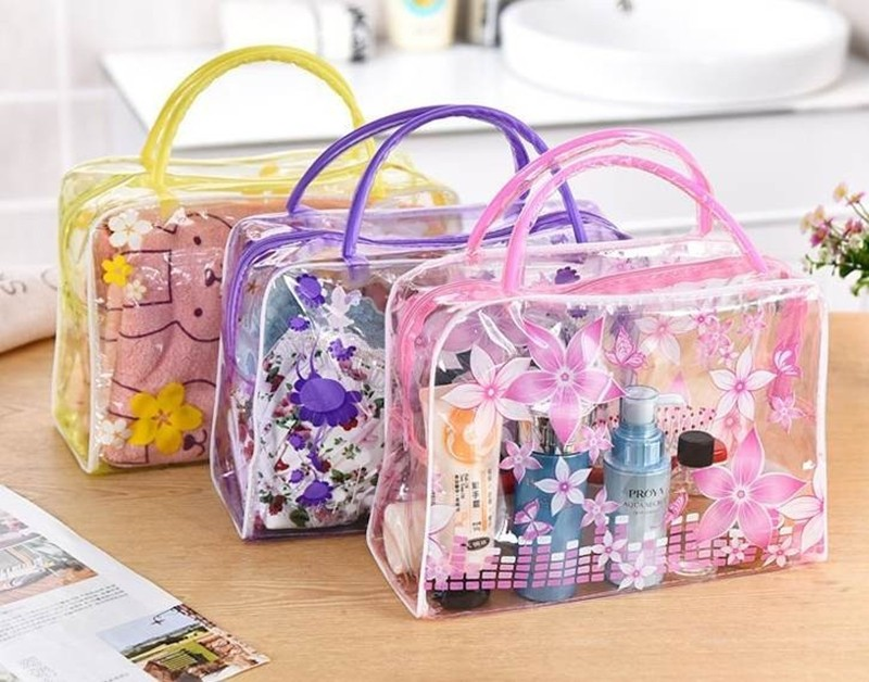 HMUNII Brand Transparent Portable Women Cosmetic Bag Waterproof Women Makeup Bag Underwear Make Up Drug Storage Organizer Bag 10