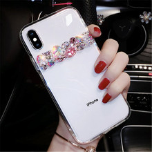 XINGDUO Pure crystal stones diamond case for iphone X XS XR MAX Transparent Jewelled Glitter 7 8 6 6S PLUS