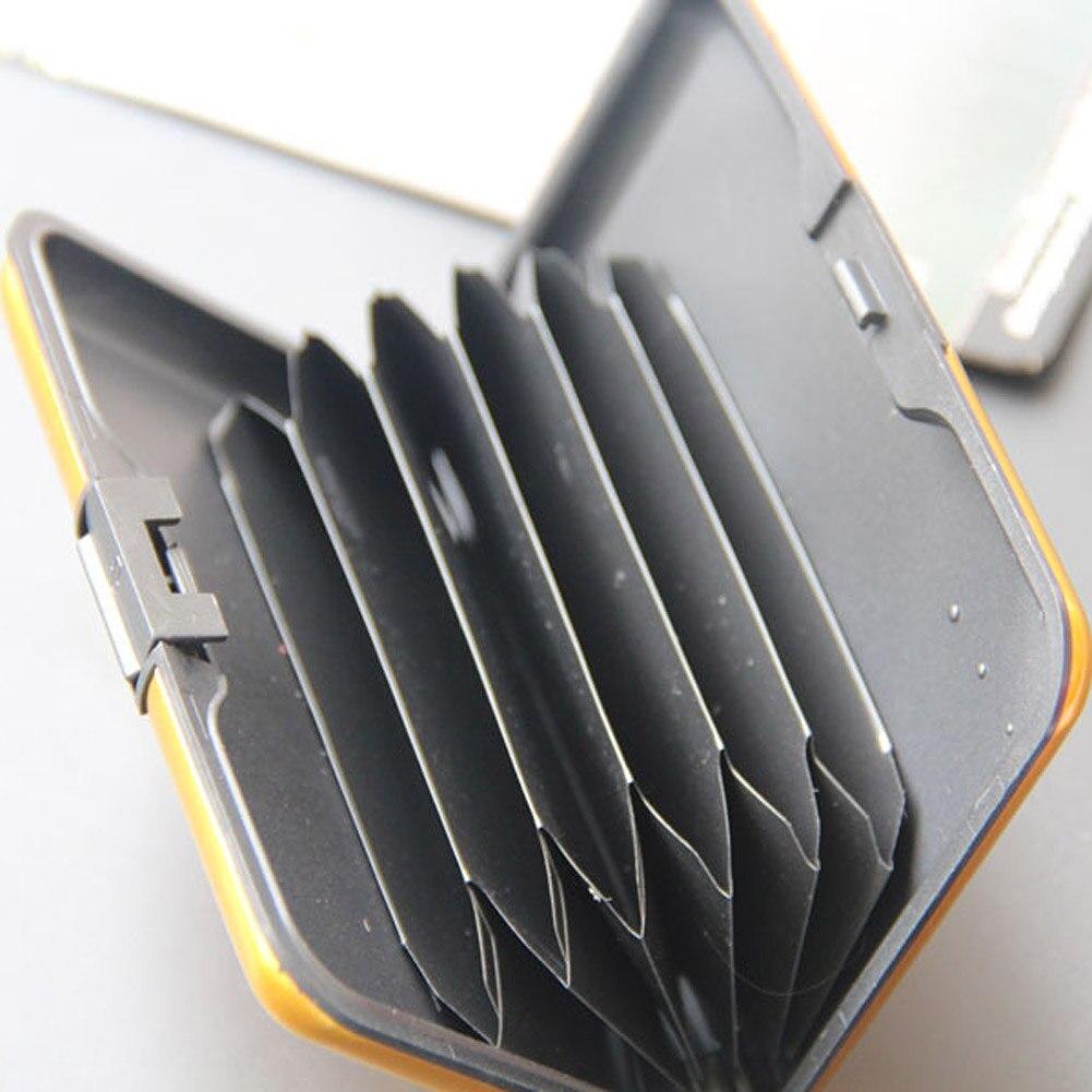 Porte-étui pour cartes de crédit d'identité d'affaires porte-cartes Anti RFID pour hommes femmes JL