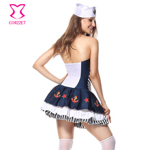 White & Blue Adult Sexy Sailor Costume Women Cosplay Anime Navy Uniform Fancy Dress Halloween Carnival Games Role Play Costumes