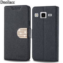 Flip Cover Brushed Leather Back Case For Samsung Galaxy Core Prime G360 G3606 G3609 with sand function