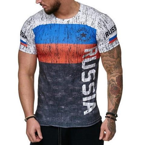 HEFLASHOR Casual Printed Male T Shirt 2019 Fashion Short Sleeve  Tee Tops Male Hip Hop Streetwear Fitness Men Tshirts 3XL Multan