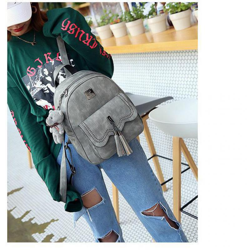 2018 New Fashions, Vintage Korean, Fringed, Casual, Shoulders Bag, Women, Multiple Packages, Fashion Backpack,