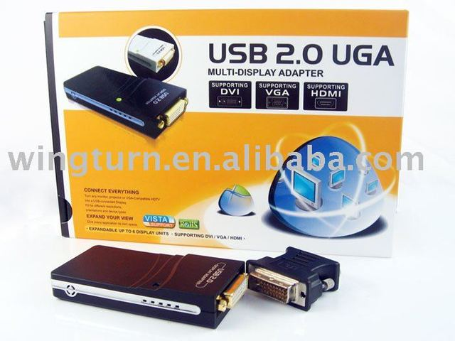USB 2.0 VGA / DVI / HDMI multi-display Adapter