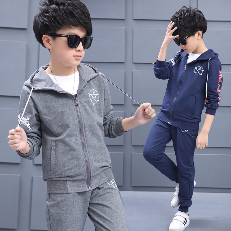 Children Boy Sport Costums Suits Spring Autumn 2 Piece Set Boys Clothing Sets 5 7 9 11 13 14 Kids Clothes autumn winter boys clothing sets kids jacket pants children sport suits boys clothes set kid sport suit toddler boy clothes