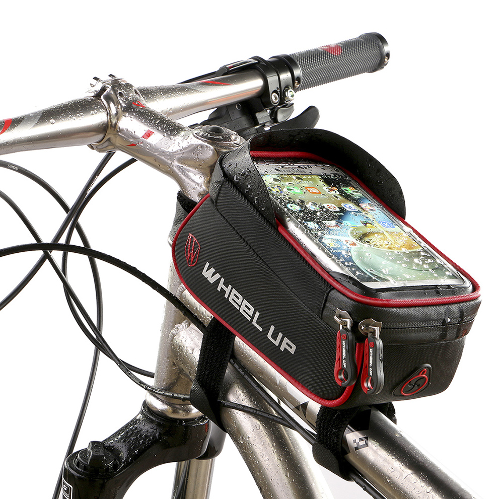 2017 Universal Waterproof Bike Phone Holder 6 inch Touch Screen Bycicle Bag Phone Bags for iPhone7 For SamsungS8 suporte celular