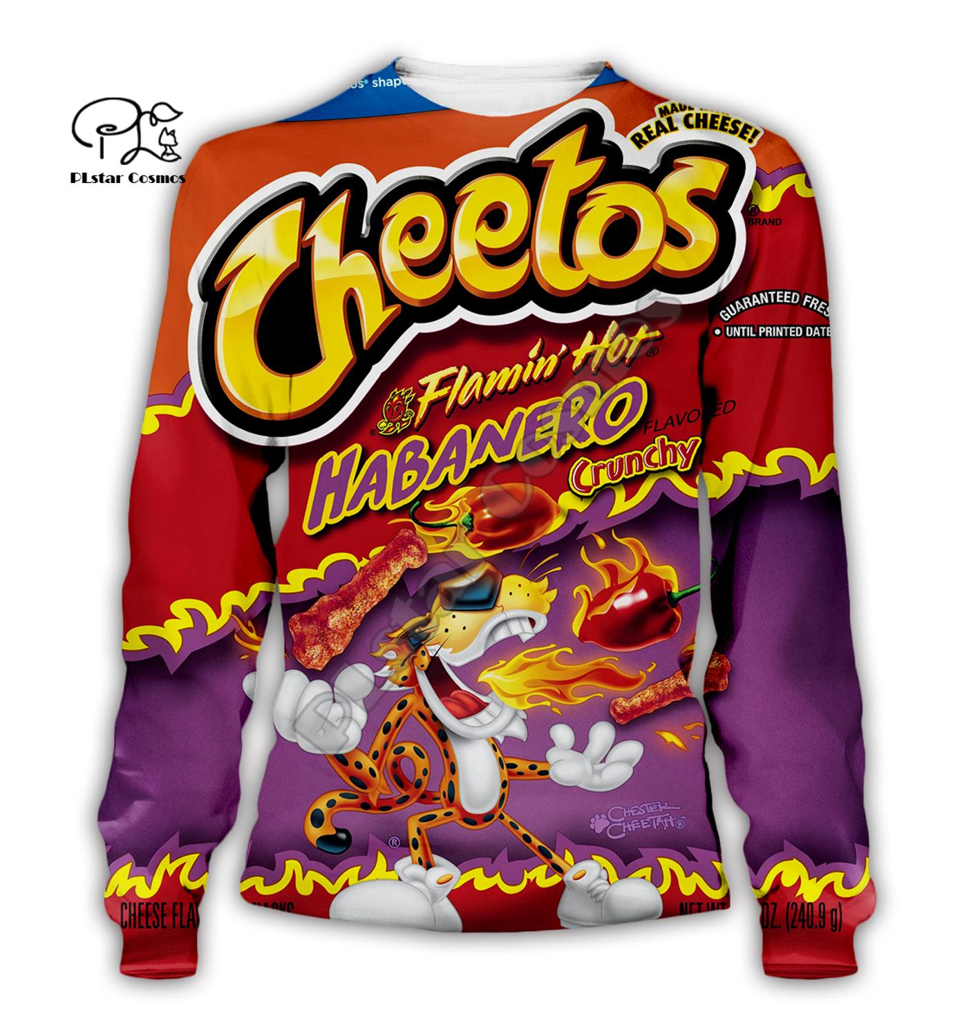 Family clothes set Cheetos Snack Print 3D Hoodie children Long Sleeve Sweatshirts mom daddy kid Pullover baby boy girl Tracksuit in Matching Family Outfits from Mother Kids