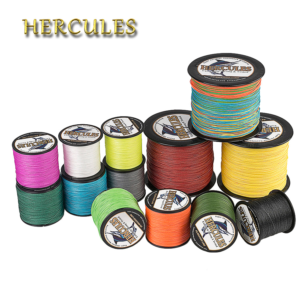 Hercules Braided Fishing Line Pesca 8 Strands 300M PE Braided Wire For Carp Fishing 10-300LB Multifilament Peche Strong Cord