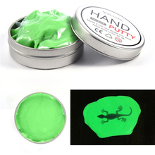 Luminous Polymer Hand Putty Slime Mud Rubber Play Dough Children Adult Creative Toys Green