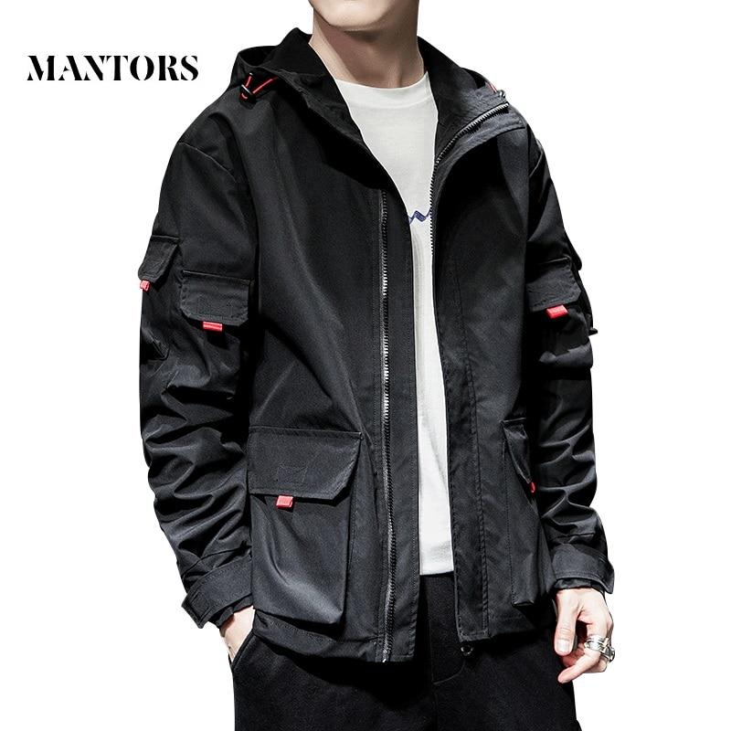 2019 New Jacket Men Spring Autumn Casual Solid Zipper Bomber Jackets Streetwear Overcoat Baseball Mens Thin Pilot Hooded Jacket